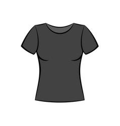 female t-shirt vector image