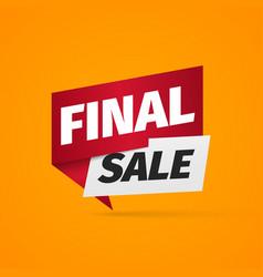 Final sale a paper pointer bonus web banner on vector