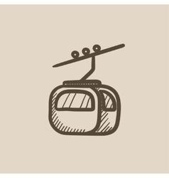 Funicular sketch icon vector