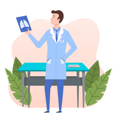 health protection concept the doctor vector image