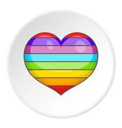 Heart in colours of LGBT icon cartoon style vector image