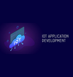 iot application development with smart cloud vector image