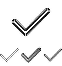 Line check logo design set vector