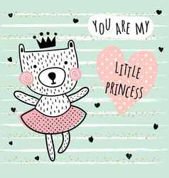 little princess card vector image