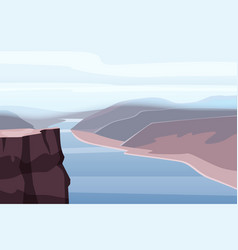 mountain landscape canyon river rocks open vector image
