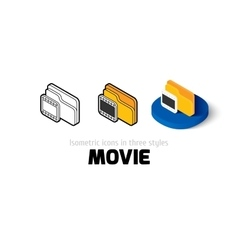 Movie icon in different style vector image