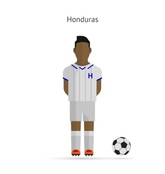National football player Honduras soccer team vector