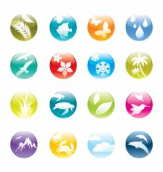 nature and eco icon set vector image