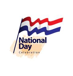 Netherlands national day celebration template vector