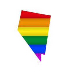 Nevada lgbt flag map vector