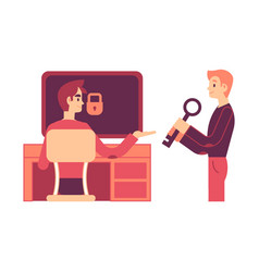 one man giving to another vector image