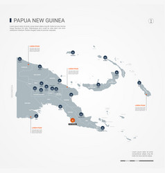 papua new guinea infographic map vector image