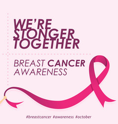 quote for breast cancer day in flat style with vector image
