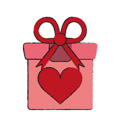 romantic gift box vector image