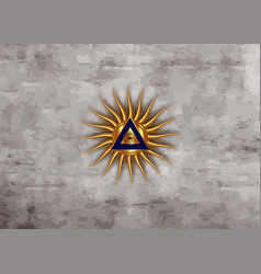 Sacred masonic symbol gold all seeing third eye vector