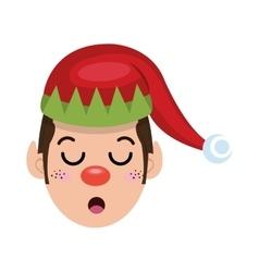 Santa helper elf cartoon vector