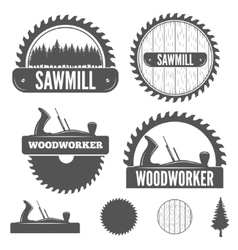 Set of badge labels or emblem elements for vector