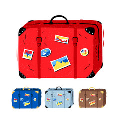 set travel suitcases vector image