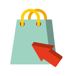 shopping bag click nfc payment vector image