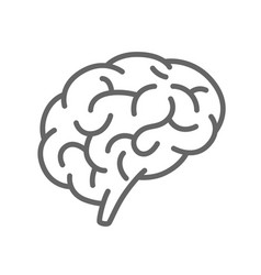 Silhouette of the brain on a white background vector