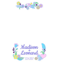 Smartphone photo frame handdrawn floral ornament vector