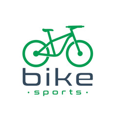 sports bike logo design vector image