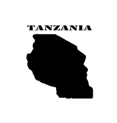 Symbol of tanzania and map vector