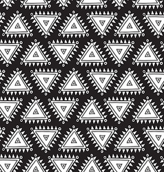 tribal seamless pattern with triangles Geometric vector image