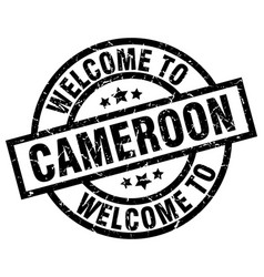Welcome to cameroon black stamp vector