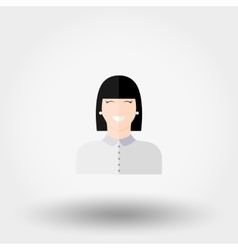 Administrator Manager Girl Icon vector image