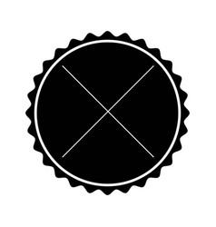 black label frame decoration sign icon vector image vector image