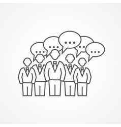 Business meeting icon vector
