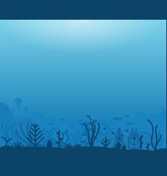 underwater sea life vector image