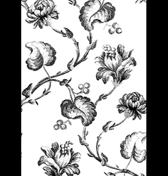8 Abstract hand-drawn floral seamless pattern vector image vector image
