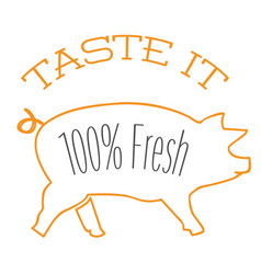 bbq taste it 100 fresh image vector image vector image