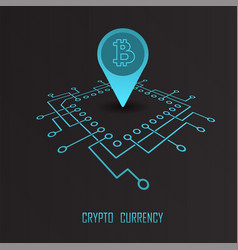 crypto currency monetary financial vector image