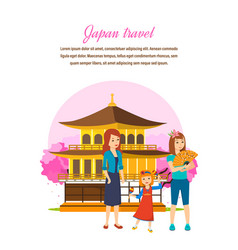 family travel familiarity with culture language vector image
