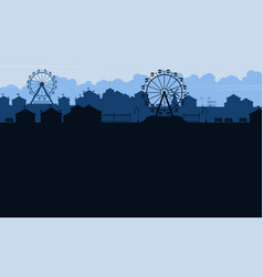background amusement park beauty scenery vector image