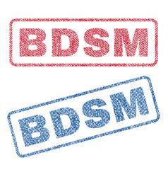 bdsm textile stamps vector image