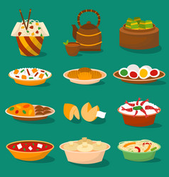 chinese traditional food asian delicious cuisine vector image