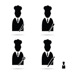 cook icon set vector image