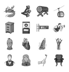 Golf organs crime apiary and other web icon in vector