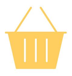 shopping basket silhouette icon minimal pictogram vector image