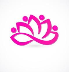 Team lotus flower logo vector image