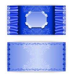 template royal invitation card vector image
