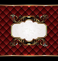 Vintage aristocratic emblem grand background vector image vector image