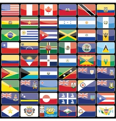 Elements of design icons flags of the continent of vector image vector image