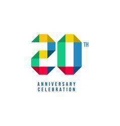 20 th anniversary celebration template design vector