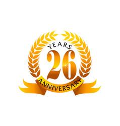 26 years ribbon anniversary vector