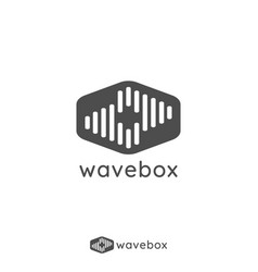 abstract audio signal wave pulse logo for vector image